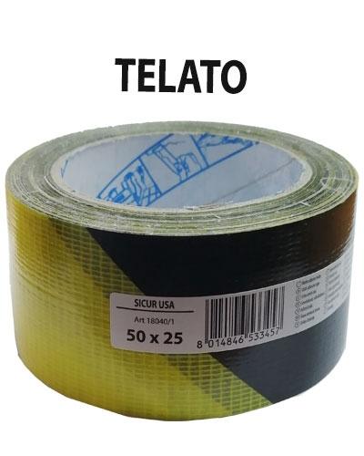 NASTRO SEGNAL.TELATO ADESIVO MM50X25 GIALLO/NERO